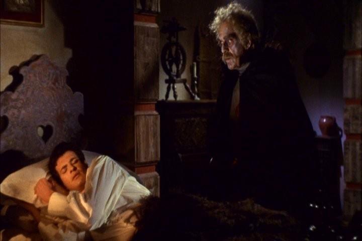 Boris Karloff e Mark Damon in una scena dell\'episodio I Wurdalak del film I tre volti della paura