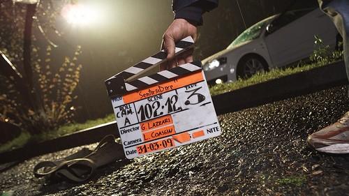 Immagine di un ciak dal set del film Sentirsi dire