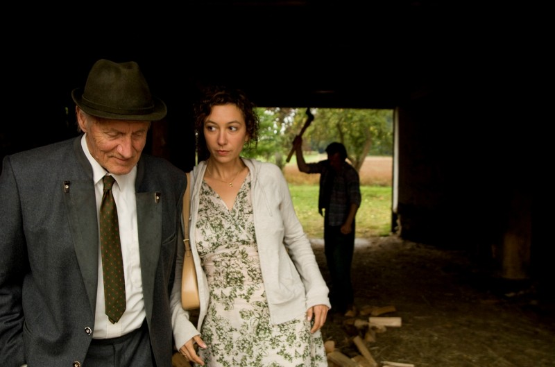 Johannes Thanheiser, Ursula Strauss e Johannes Krisch in una scena del film Revanche