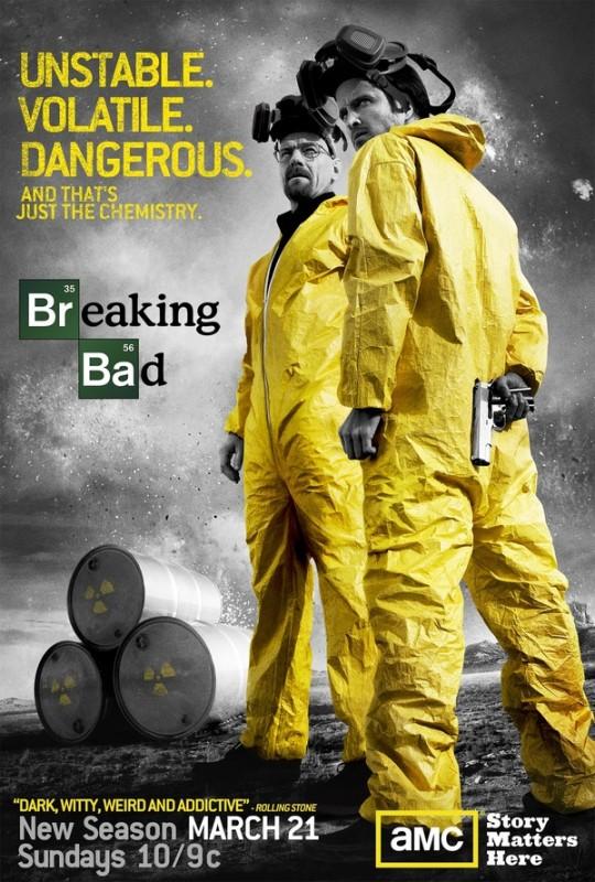 Un poster della stagione 3 di Braking Bad