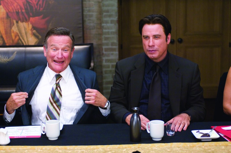 Robin Williams e John Travolta, protagonisti di Daddy Sitter