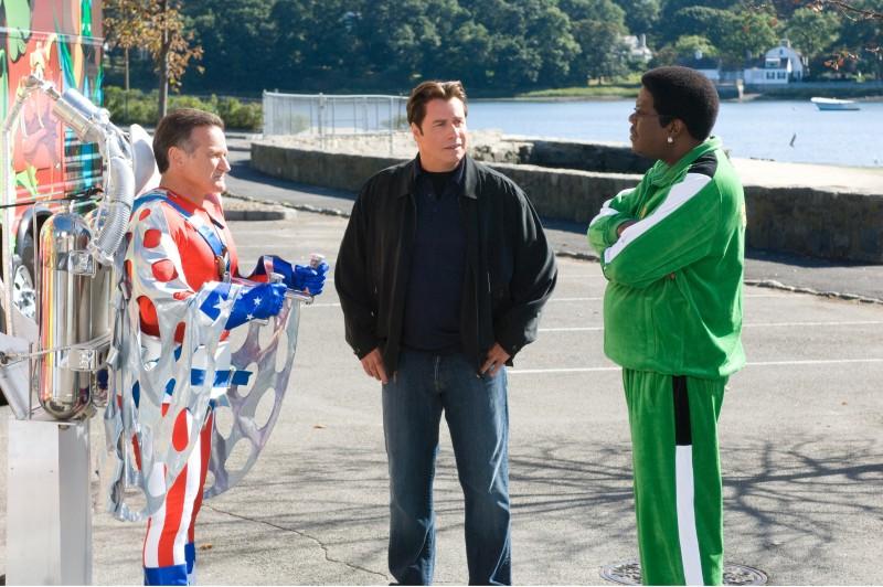 Robin Williams, John Travolta e Bernie Mac in una scena della commedia Daddy Sitter
