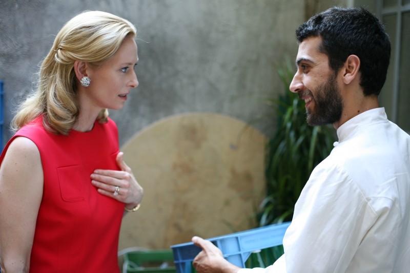 Tilda Swinton ed Edoardo Gabbriellini in una scena del film Io sono l'amore