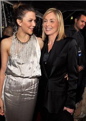 Maggie Gyllenhaal e Sharon Stone alla Premiere di Crazy Heart a Los Angeles