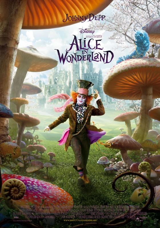 Poster Italiano - Alice In Wonderland 2D (senza riferimenti 3D)