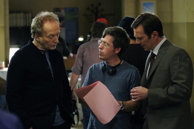 Tobin Bell e Peter Outerbridge insieme a Kevin Greutert, regista di Saw VI