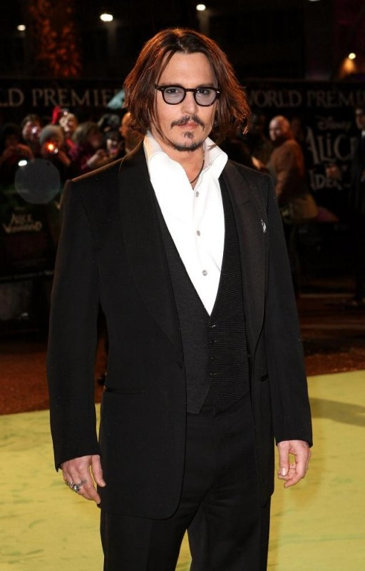 Johnny Depp alla premiere di Alice in Wonderland a Londra