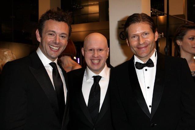 Matt Lucas, Michael Sheen e Crispin Glover alla premiere di Alice in Wonderland a Londra
