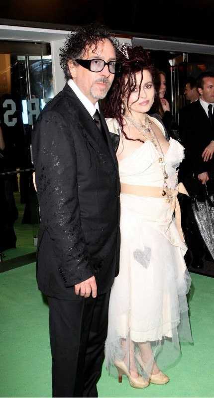 Tim Burton e Anne Hathaway alla Royal World Premiere di Alice In Wonderland a Londra