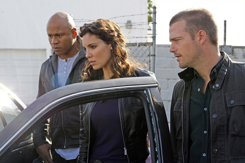 Un momento dell'episodio Missing di NCIS: Los Angeles con il trio protagonista