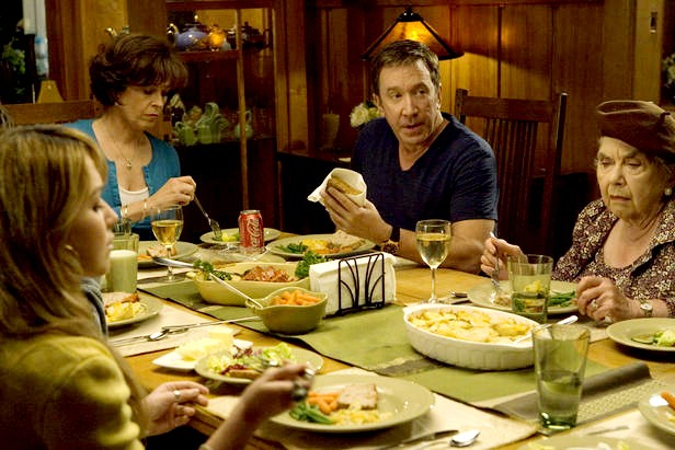 Tim Allen con Sigourney Weaver in Crazy on the outside