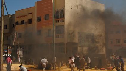 Un'immagine della strage di Nassirya tratta dal film Venti sigarette