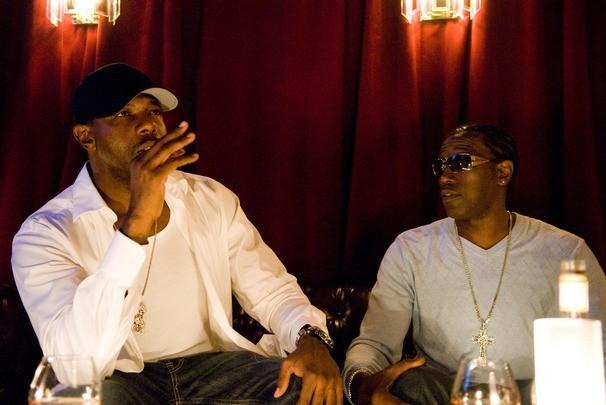 Wesley Snipes e Antoine Fuqua sul set del film Brooklyn's Finest