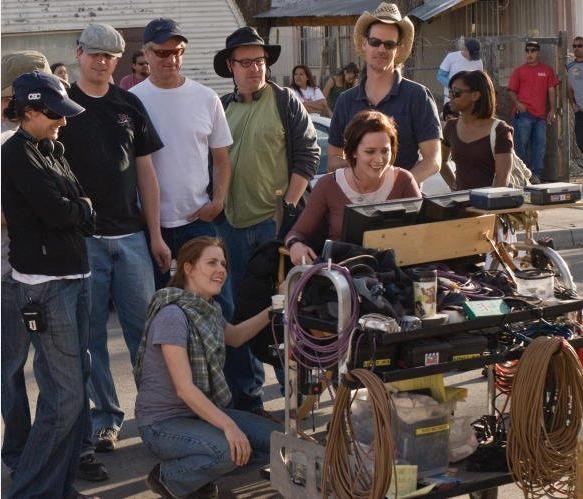 Amy Adams, la regista Christine Jeffs ed Emily Blunt nel dietro le quinte del film Sunshine Cleaning