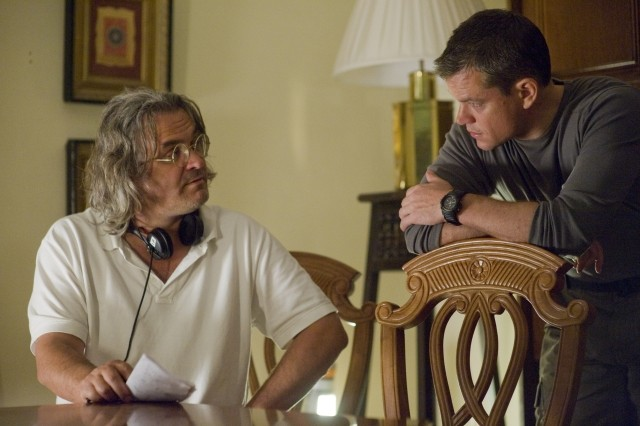 Matt Damon e il regista Paul Greengrass sul set del film Green Zone