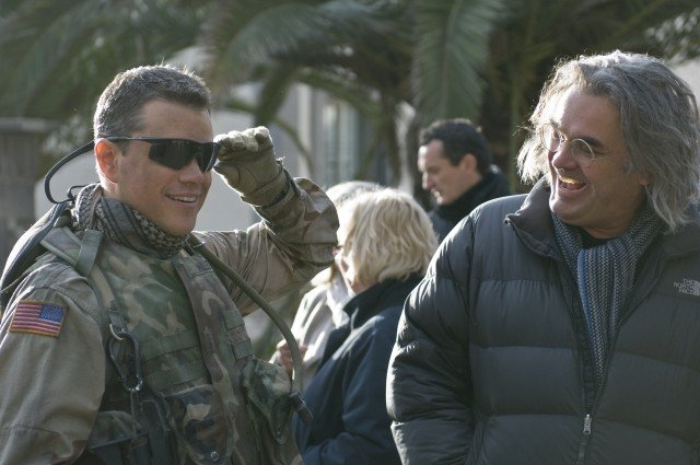 Matt Damon e Paul Greengrass sul set del film Green Zone