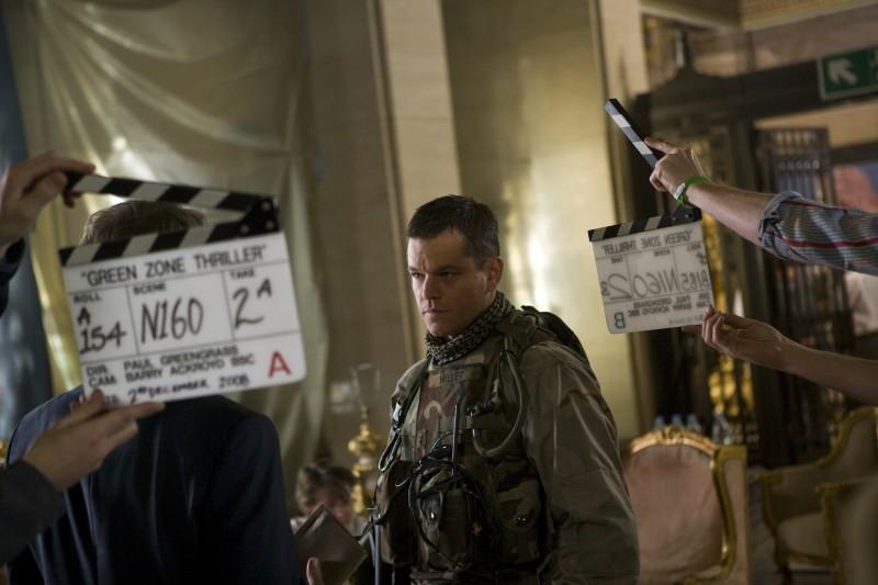 Matt Damon sul set del film Green Zone