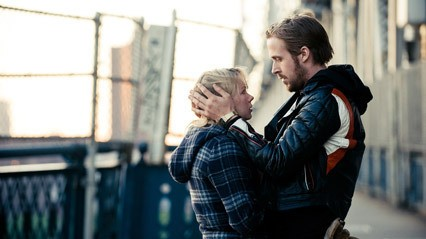 Michelle Williams e Ryan Gosling in un'immagine di Blue Valentine