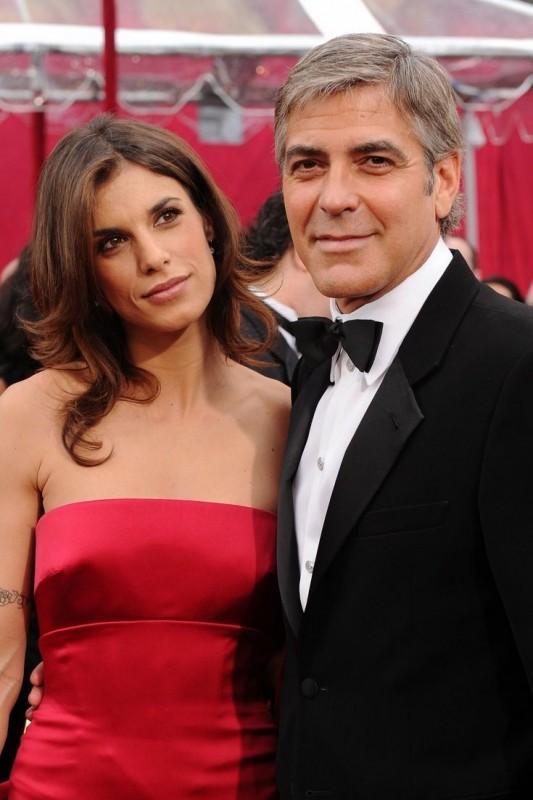 George Clooney e Elisabetta Canalis sul Red Carpet degli Oscar 2010