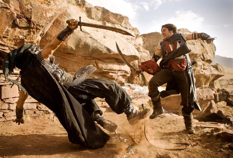 Una sequenza di combattimento del film Prince of Persia: Sands of Time con Jake Gyllenhaal
