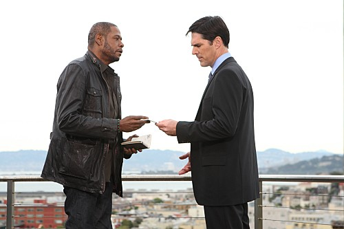 La guest star Forest Whitaker con Thomas Gibson nell'episodio The Fight di Criminal Minds
