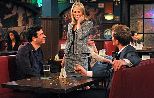 Carrie Underwood con Neil Patrick Harris e Josh Radnor nell'episodio Hooked di How I Met Your Mother