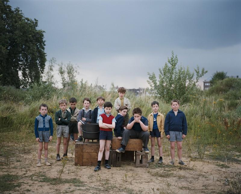 Un'immagine di Maxime Godart e degli altri protagonisti de Il piccolo Nicolas e i suoi genitori