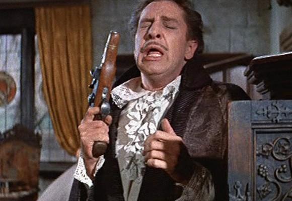 Vincent Price in una scena del film Il pozzo e il pendolo