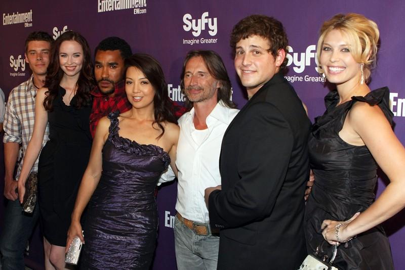 Foto di gruppo all' Entertainment Weekly and Syfy Celebrate Comic-Con, il 25 Luglio 09