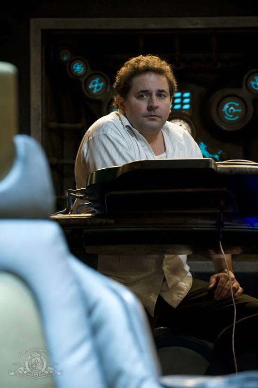 Una sequenza dell'episodio Justice di Stargate Universe con Mark Burgess