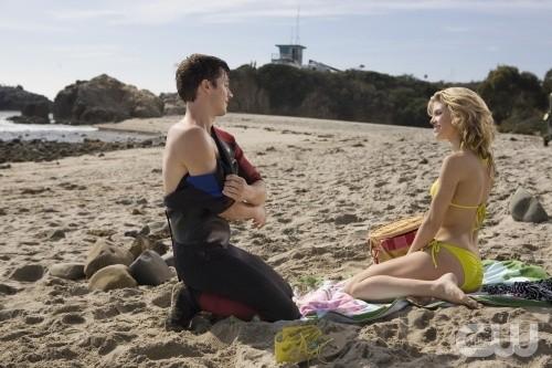 AnnaLynne McCord e Matt Lanter nell'episodio Girl Fight di 90210