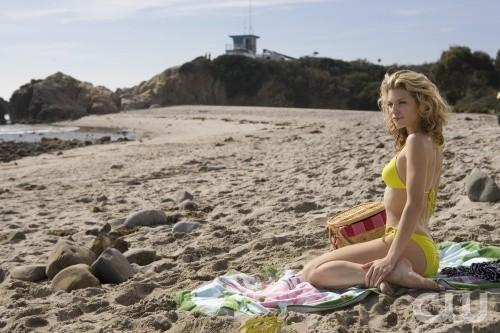AnnaLynne McCord in spiaggia nell'episodio Girl Fight di 90210