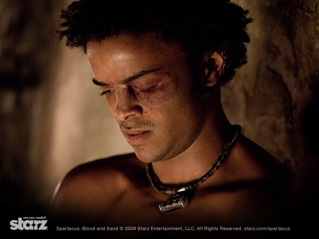 Eka Darville nell'episodio Great and Unfortunate Things della serie Spartacus: Blood and Sand