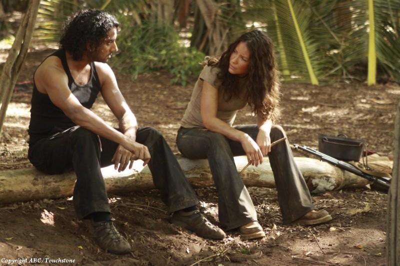 Evangeline Lilly e Naveen Andrews nell'episodio Recon di Lost