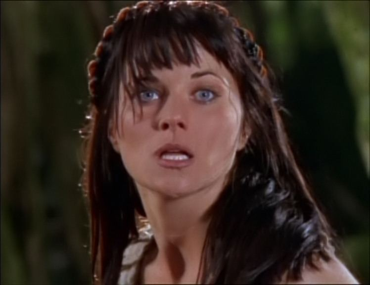 Lucy Lawless in Sins Of The Past, episodio di Xena