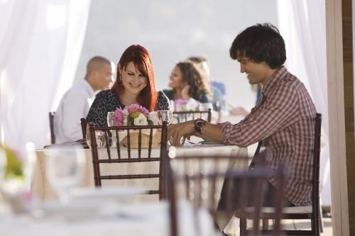 Michael Steger ed Amber Wallace in una scena dell'episodio What's Past Is Prologue di 90210