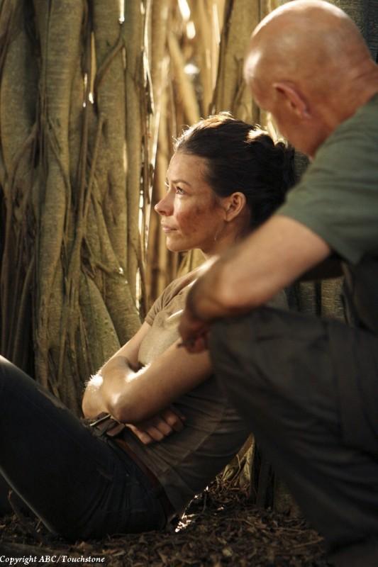 Terry O'Quinn ed Evangeline Lilly nell'episodio Recon di Lost