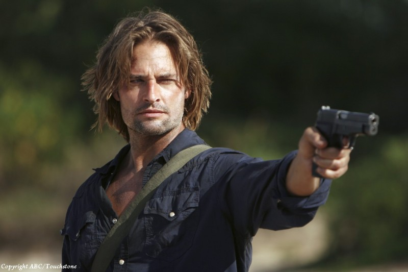 Un minaccioso Josh Holloway nell'episodio Recon di Lost