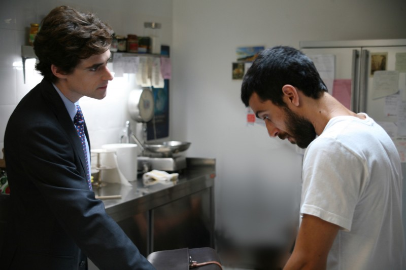 Flavio Parenti ed Edoardo Gabbriellini in una sequenza del film Io sono l'amore
