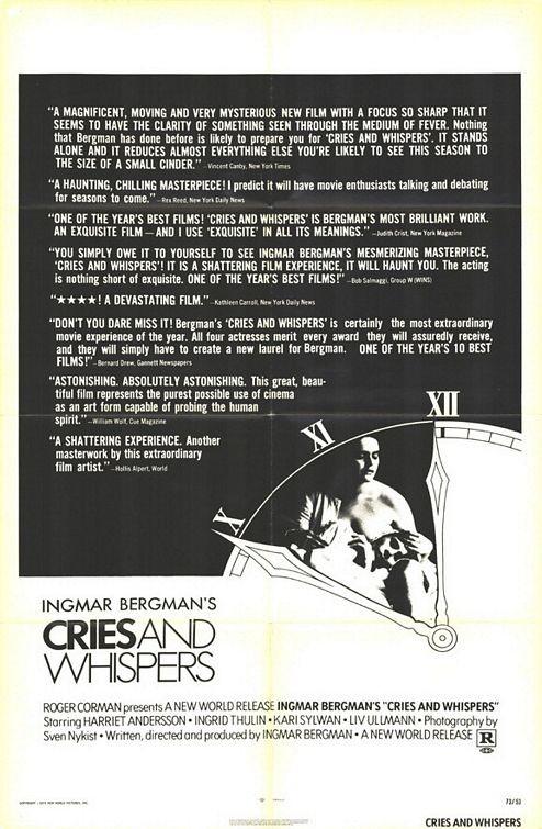 Locandina del film Sussurri e grida ( 1972 )