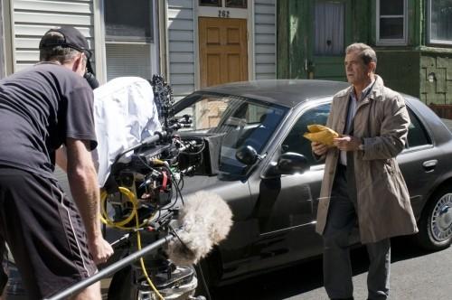 Mel Gibson sul set del film Fuori controllo