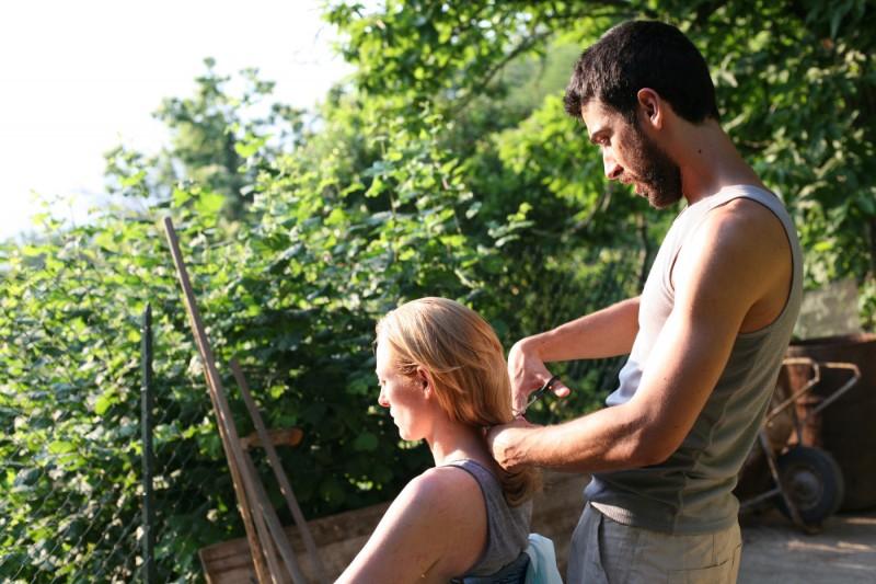Tilda Swinton ed Edoardo Gabbriellini in un'immagine del film Io sono l'amore