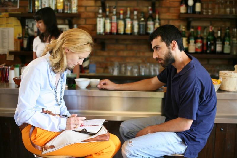 Tilda Swinton ed Edoardo Gabbriellini in una sequenza del film Io sono l'amore