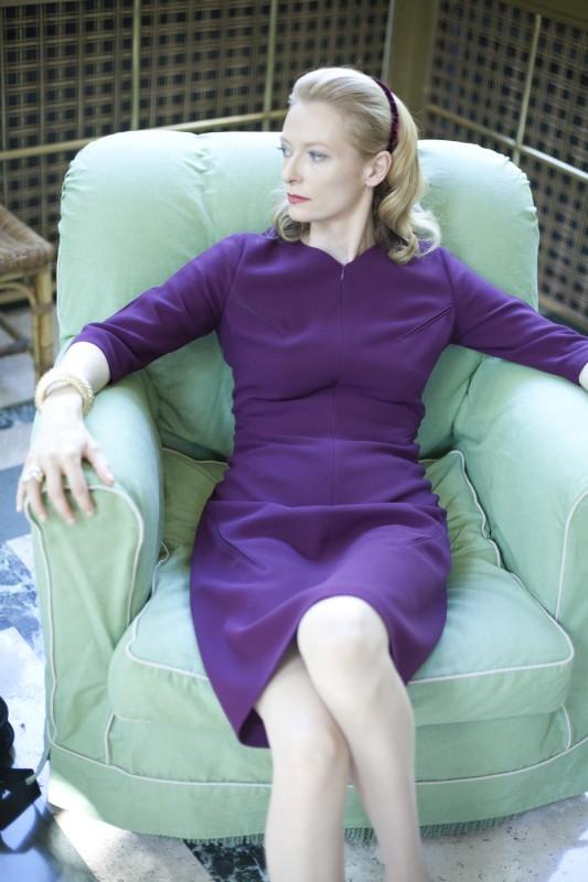 Un'intensa Tilda Swinton, protagonista del film Io sono l'amore
