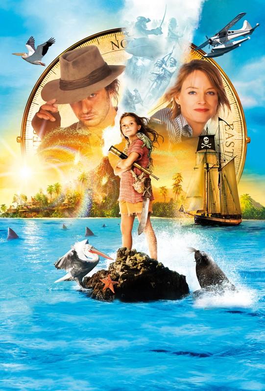 Un'immagine promozionale con i protagonisti del film Alla Ricerca dell'Isola di Nim