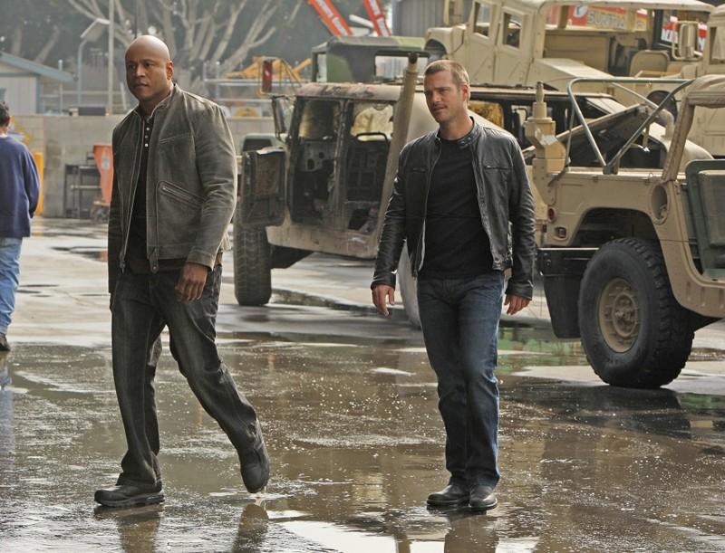 Un'immagine tratta dall'episodio Blood Brothers di NCIS: Los Angeles con LL Cool J e O'Donnell