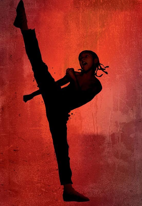 L'immagine promozionale utilizzata per il poster del film Karate Kid con Jaden Smith