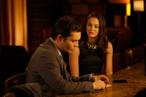 Chuck (Ed Westwick) e Blair (Leighton Meester) nell'episodio The Lady Vanished di Gossip Girl