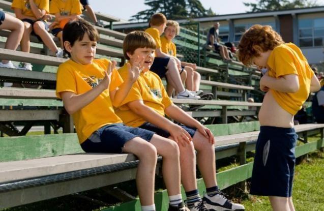 Zachary Gordon, Robert Capron e Grayson Russell in una scena di Diary of a Wimpy Kid con