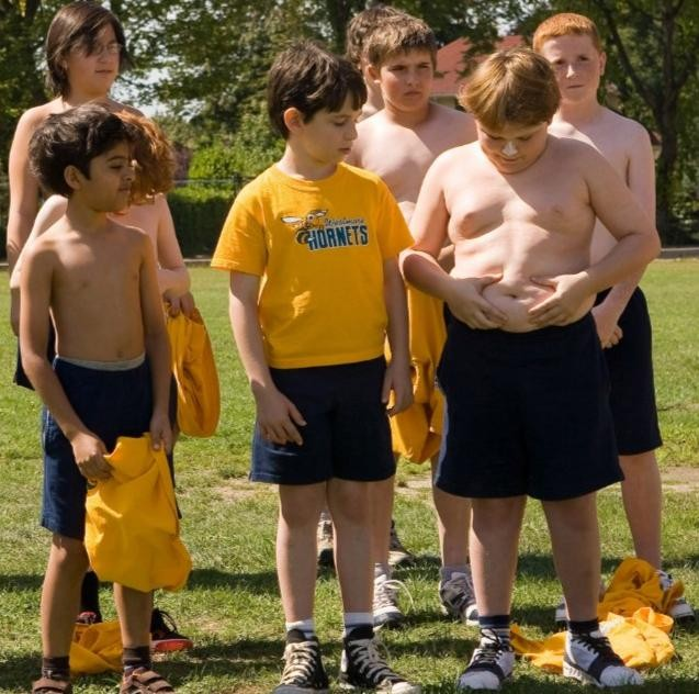 Zachary Gordon, Robert Capron e Karan Brar in una scena di Diary of a Wimpy Kid con